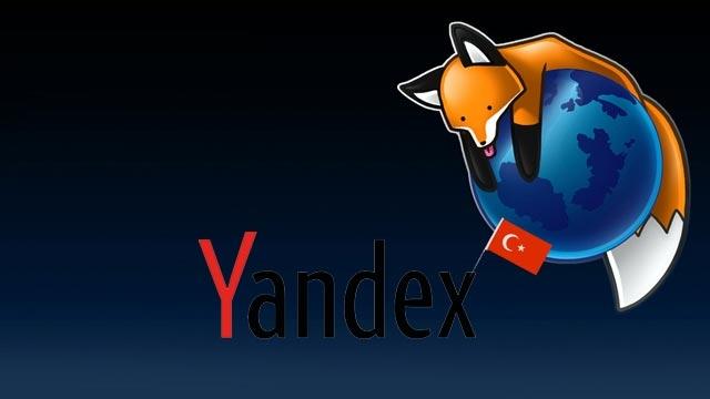 Firefox Yandex'i Varsayılan Arama Motoru Yapıyor