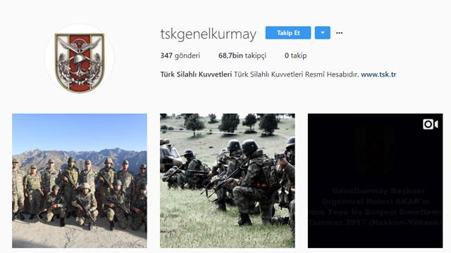 TSK Instagram Hesabı 7 Ayda 68 Bin Takipçiyi Geçti
