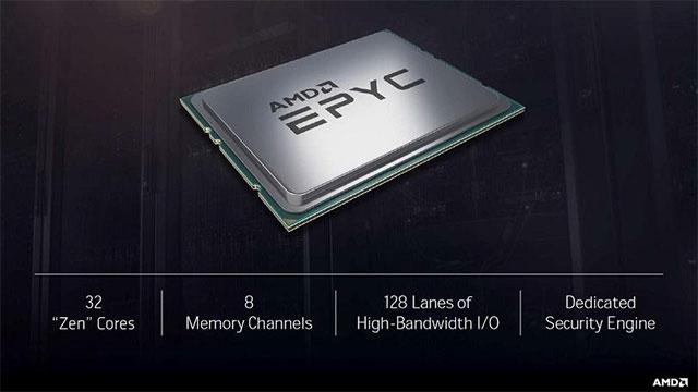 AMD'nin 32 Çekirdekli Epyc 7000 Serisi Server İşlemcileri Tanıtıldı