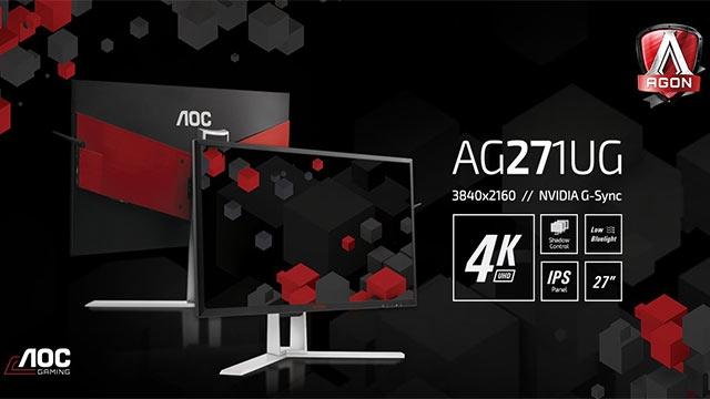 AOC 27 İnç Boyutundaki 4K Oyun Monitörünü Tanıttı