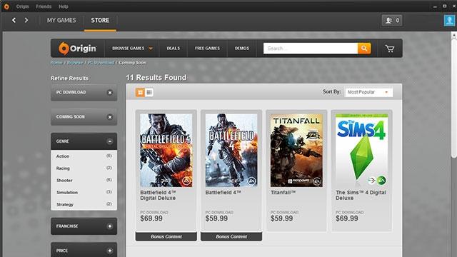 EA Oyun Platformu Origin'e Yeni Özellikler Eklendi