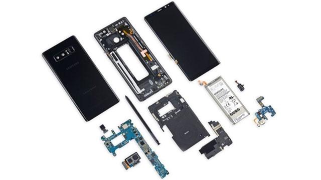 Galaxy Note 8'in Tamir Edilebilirliği Değerlendirildi