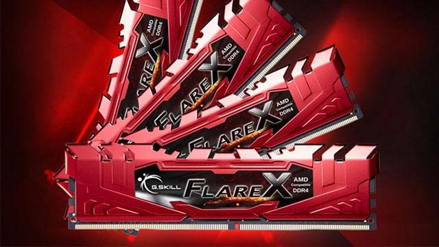 G.Skill, Flare X Serisi DDR4 Belleklerini Tanıttı