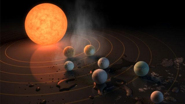NASA Dünya'ya Benzer 7 Gezegenden Oluşan Bir Yıldız Sistemi Keşfetti