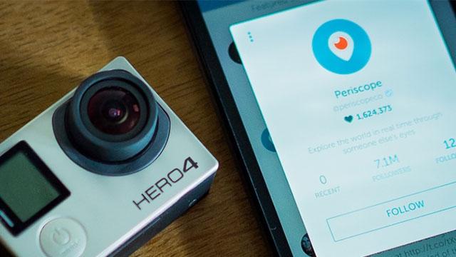 Periscope Yayınları İçin Artık GoPro Kameranızı Kullanabilirsiniz