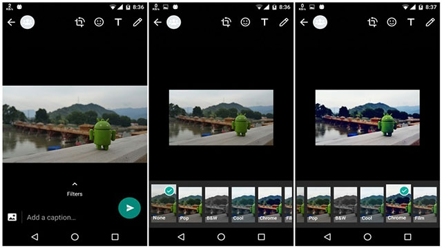 WhatsApp'ın Beta Sürümünde Fotoğraf Filtreleri Göründü