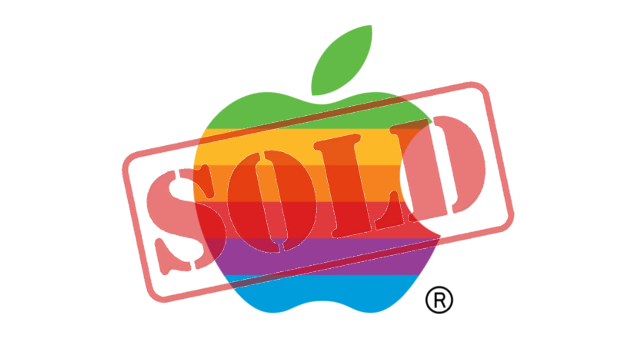 Apple Renkli Logosunu Satıyor