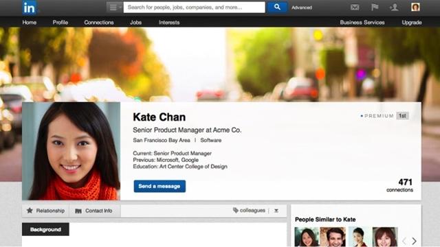 LinkedIn Profilleri Facebook'a Benziyor