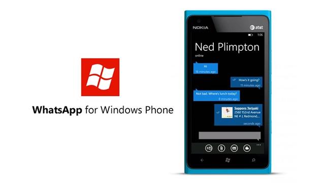 WhatsApp Windows Phone'a Geri Döndü