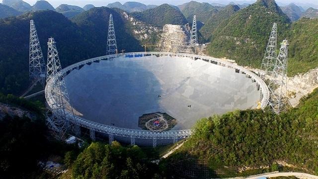 Dünyanın En Büyük Radyo Teleskobu Çin'de Kuruldu