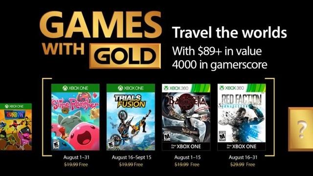 Ağustos 2017'nin Ücretsiz Xbox Oyunları Açıklandı