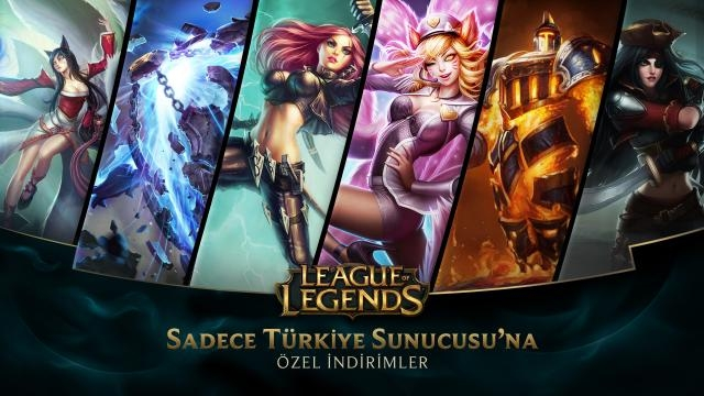 League of Legends - Türkiye Sunucusuna Özel İndirimler (6 Haziran - 8 Haziran)