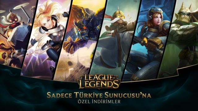 League of Legends - Türkiye Sunucusuna Özel İndirimler (4 Temmuz - 6 Temmuz)