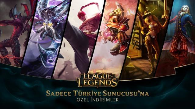 League of Legends - Türkiye Sunucusu'na Özel İndirimler (23 Ocak - 25 Ocak)
