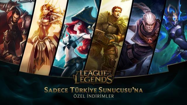 League of Legends - Türkiye Sunucusu Özel İndirimler (28 Şubat - 1 Mart)