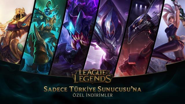 League of Legends - Türkiye Sunucusu'na Özel İndirimler (5 Haziran - 7 Haziran)