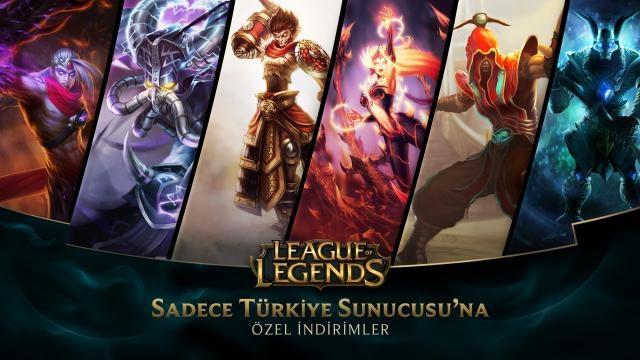 League of Legends - Türkiye Sunucusu'na Özel İndirimler (1 Ağustos - 3 Ağustos)