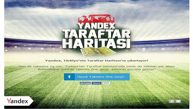 Yandex.Türkiye Taraftar Uygulaması ile Şehrinizin Takımını Belirleyin