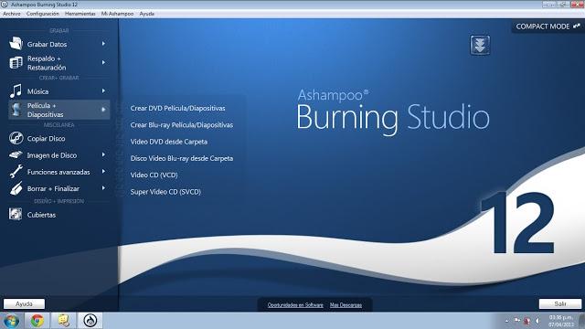 CD ve DVD Yazma Programı Ashampoo Burning Studio Lisansları Tamindir'den Hediye