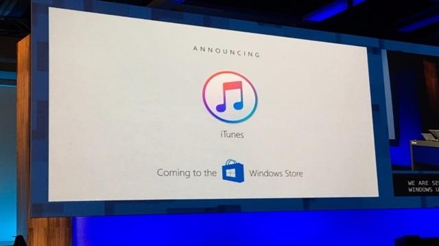 iTunes, Windows Store'da Yerini Alacak