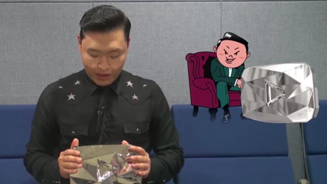 Şarkıcı Psy, Elmas 'Youtube Play Tuşu' Sahibi Oldu