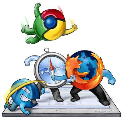 Chrome, Firefox'u Geçmek İçin Gün Sayıyor