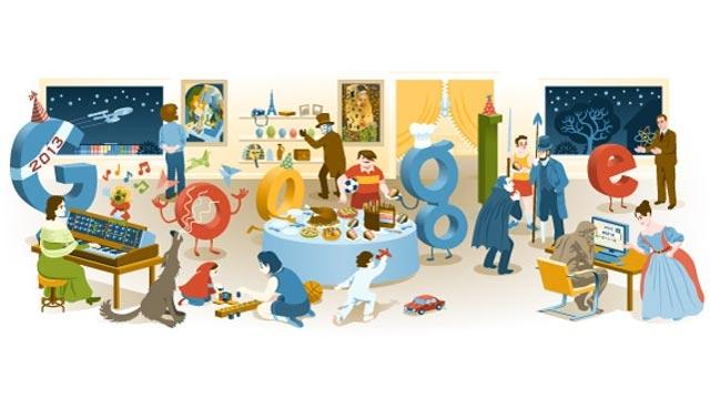 2012 Yılbaşı Gecesi Doodle'ı