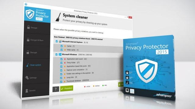 Ashampoo Privacy Protector 2015 ile Tüm Verileriniz Güvende