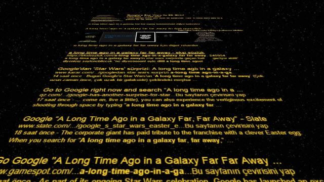 Google'dan Sürpriz Star Wars Şakası