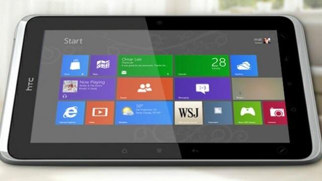 HTC Windows RT İşletim Sistemli Tabletten Vazgeçti