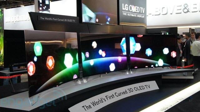 LG'nin Kavisli OLED Ekranları 2013'te Satışa Sunuluyor