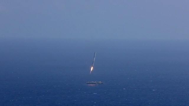 SpaceX CRS-6 Roketi İnmeye Çalışırken Denize Çakıldı
