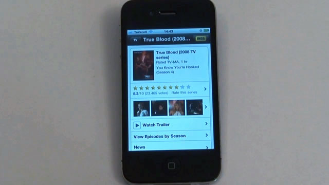 iPhone İçin IMDb Movies & TV Uygulaması