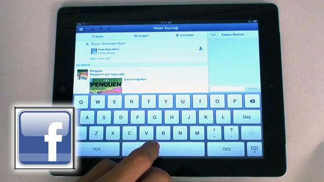 iPad İçin Yeni Çıkan Facebook Uygulaması