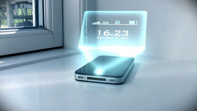 iPhone Hologram Saati