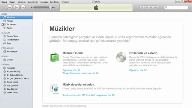 iTunes Kurulumu ve Program İçi Görüntüleri