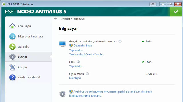 ESET Nod 32 Antivirus Kurulumu ve Program İçi Görüntüleri