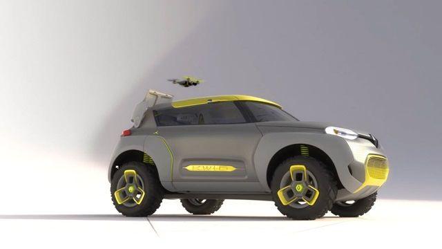 Renault'un Yeni Konsept Arabası Kwid ve Yardımcı Helikopteri