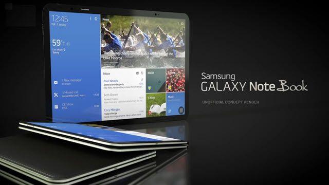 Samsung Galaxy Note Book Konsepti Ortaya Çıktı