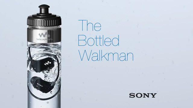 Sony Su Geçirmez MP3 Oynatıcılarını Su Şişesinde Satmaya Başladı