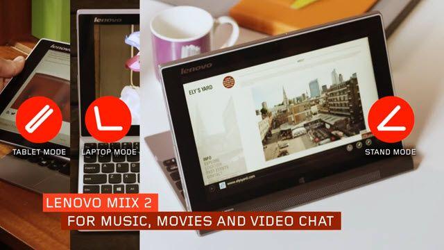 Lenovo Miix 2 için İlk Tanıtım Videosu Yayınlandı
