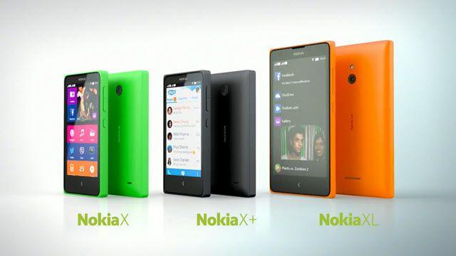 Nokia X Serisi Akıllı Telefonlar Görücüye Çıktı