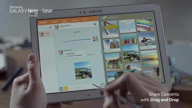 Samsung Galaxy Note 10.1 ve Gear Resmi TV Reklamı