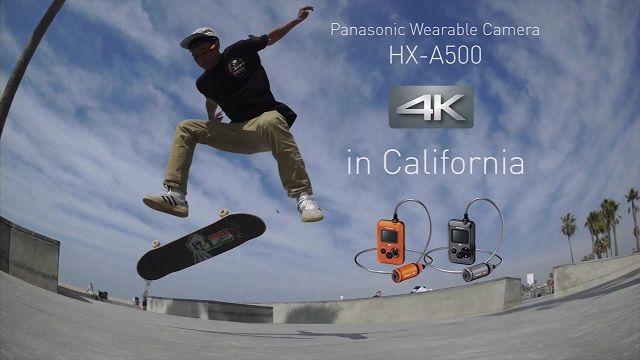 Panasonic'ten 4K Çözünürlüklü Giyilebilir Kamera: HX A500