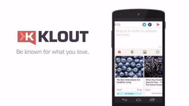 Klout Uygulaması Android Versiyonu Tanıtım Videosu