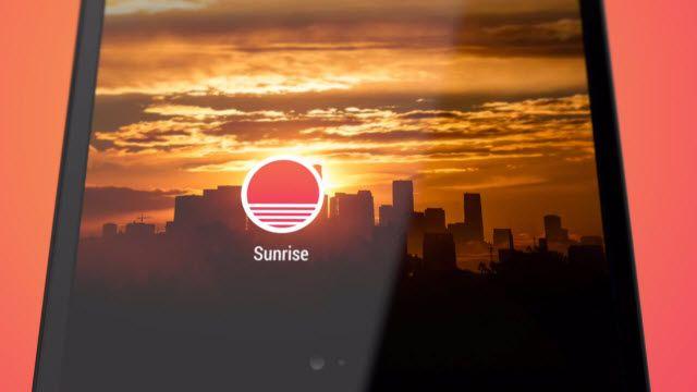 Android İçin Sunrise Calendar Uygulaması Yayınlandı