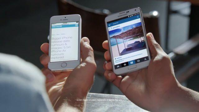 Samsung Galaxy S5'in Ekranı Özendiriyor