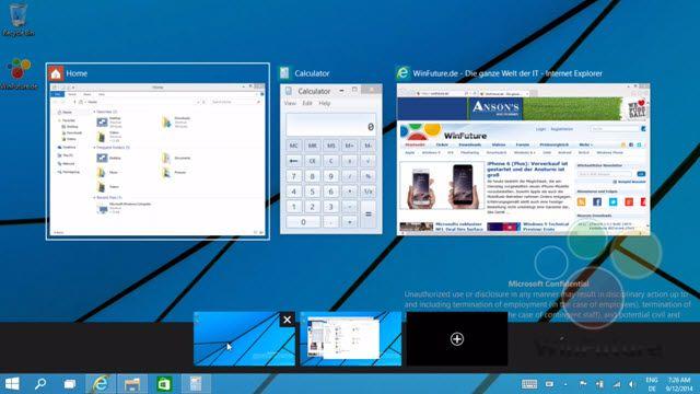 Windows 9'un Yeni Multi-Desktop Özelliği Sızdı