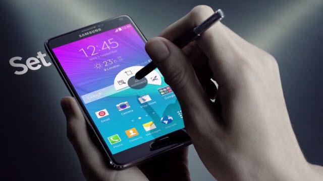 Samsung Galaxy Note 4 Satış Öncesi Reklamı