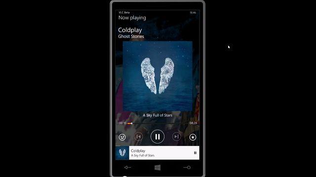 Windows Phone için VLC Göründü